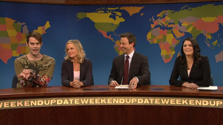 Stefon, Amy Poehler Return to SNL to Send Off Seth Meyers