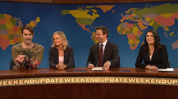 Stefon, Amy Poehler Return to SNL to Send Off Seth Meyers