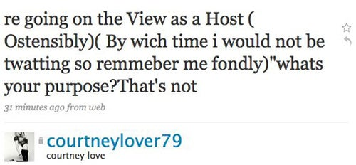 Is Courtney Love Going To Guest-Host The View!?