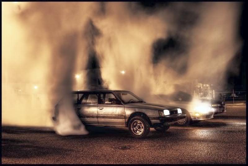 Wagon burnout