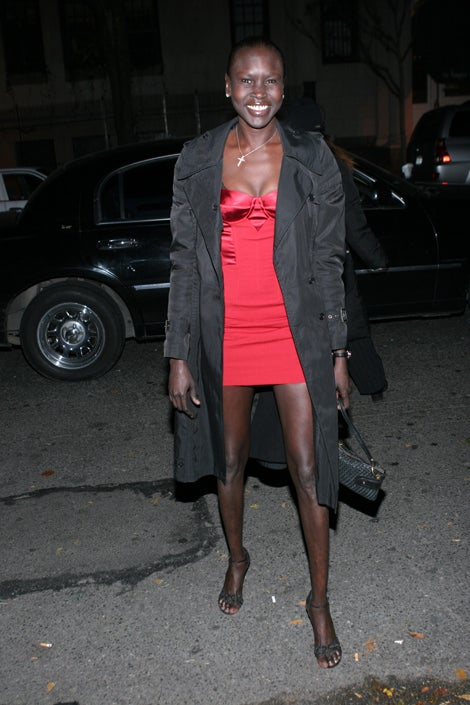 Alek Wek's Little Red Dress