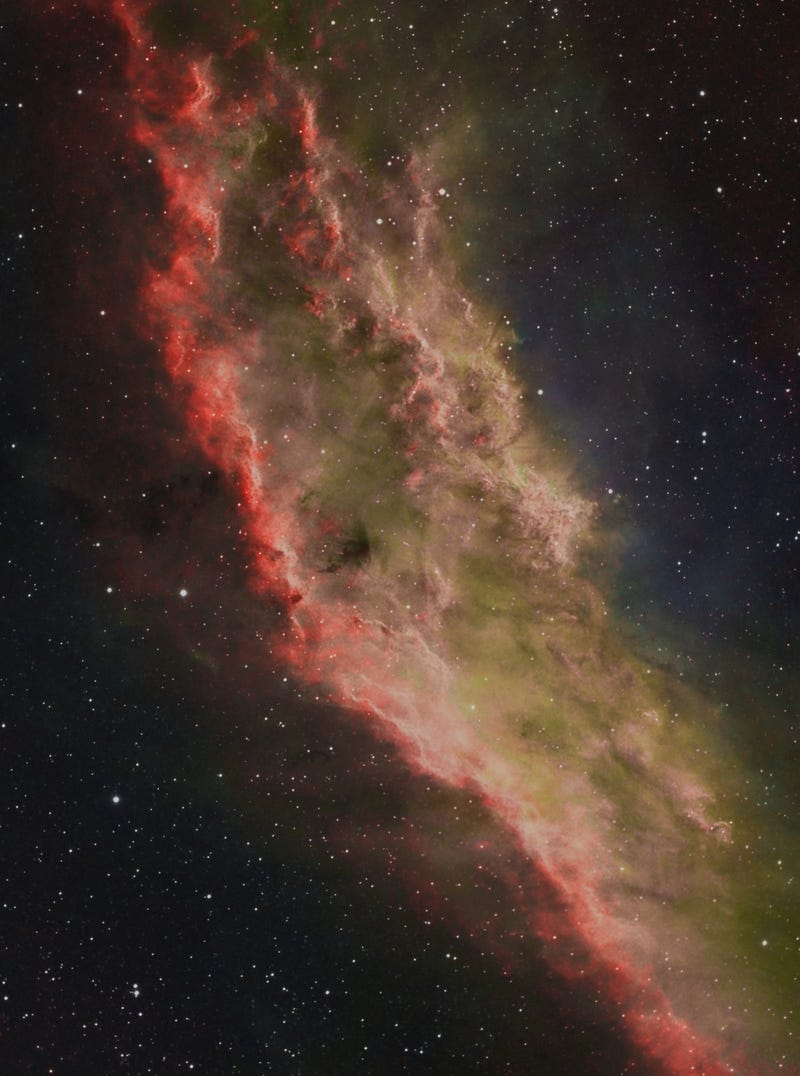 California has now become a nebula a thousand light-years from Earth