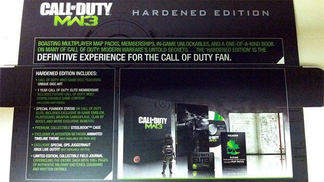 Modern Warfare 3 'Hardened Edition' Details Leak, Includes Year-long Elite Membership