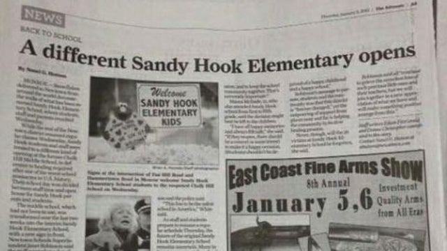 Connecticut Paper Publishes Gun Show Ad Next to Article About Classes Resuming for Sandy Hook Students [UPDATE]