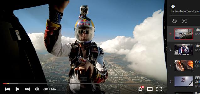 Prueba todos los vídeos 4K en YouTube experimento de Google