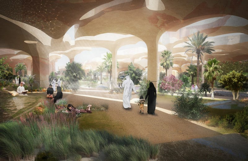 Abu Dhabi's New Park Will Hide a 30-Acre Oasis Below the Desert