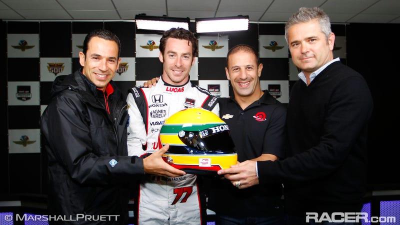Simon Pagenaud To Wear Ayrton Senna Tribute Helmet At Indy 500