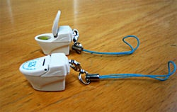 Toilet-Shaped Cellphone Charms