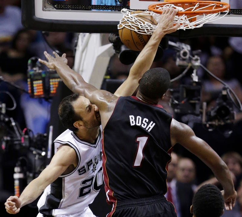 Did Manu Ginobili Dunk On Chris Bosh With A Stress Fracture In His Leg?