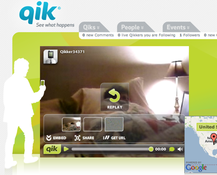 Qik Video Streaming Goes To Public Beta, iPhone App Still Coming
