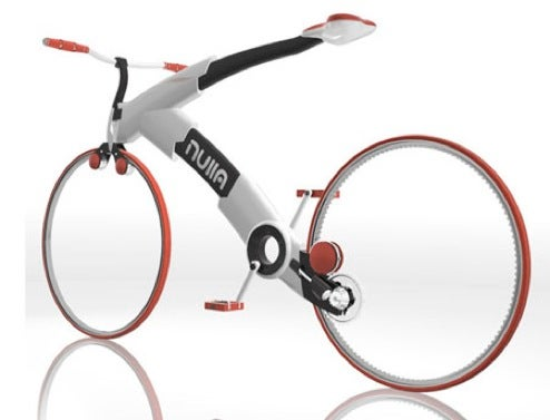 Nulla Minimalist Bike Concept Dispenses With Spokes, Most of Frame