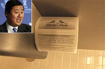 Torture Memo Author John Yoo Gets Own Toilet Paper Brand