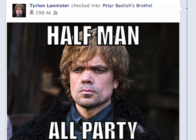 If Game of Thrones Characters Were on Facebook