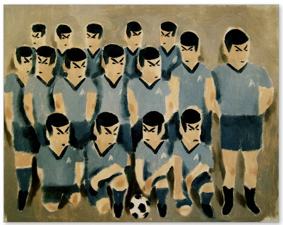 For $149, you could own this painting of an all-Spock soccer team