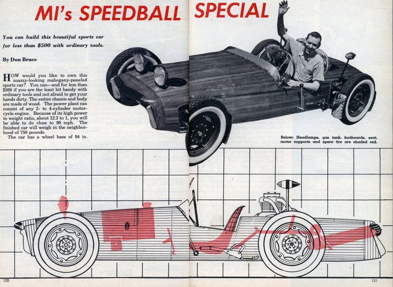 All-Wooden Speedball Special Roadster Built, For Sale In St. Louis