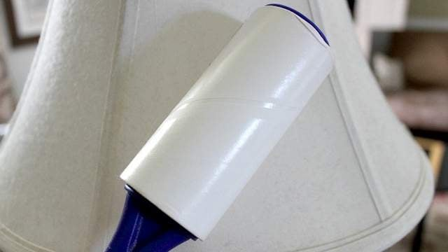 Clean Your Lampshades with a Lint Roller