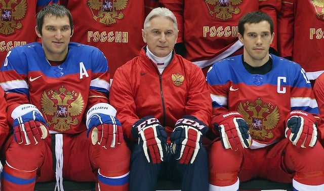 The Russian Olympic Hockey Coach's Postgame Presser Was Gold