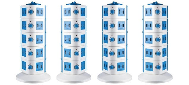 This Tower Of Power Gives You 40 USB Ports For Charging Everything