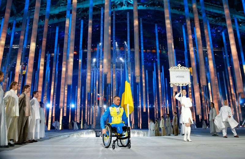Ukraine Team Stages Symbolic Protest At Sochi Paralympics