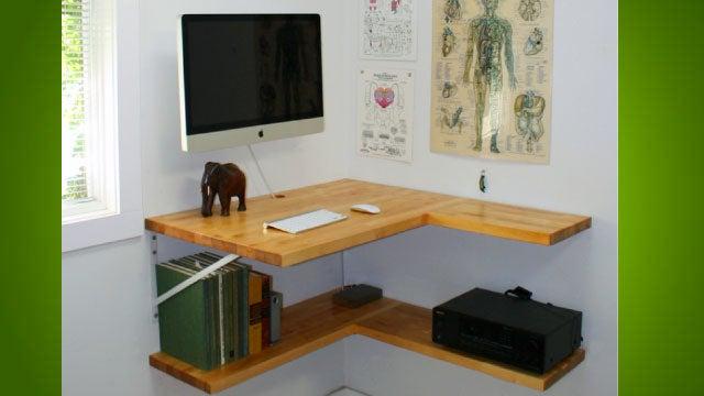 The Floating Corner Desk