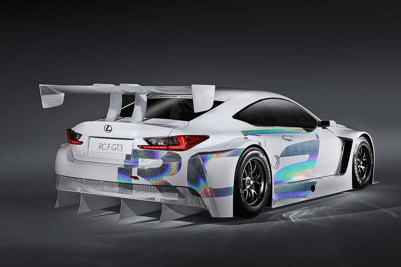Lexus RC F GT3: Great looking car with a hideous livery.