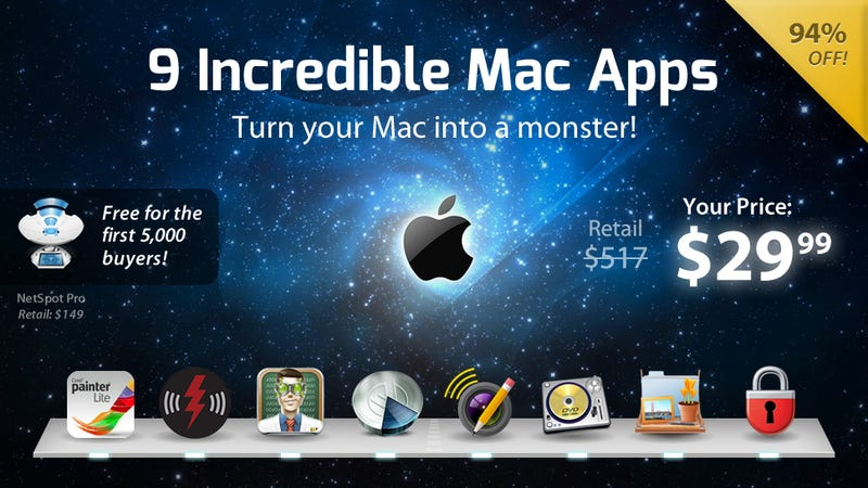 Get 9 Mac Apps (Including TuneUp and Painter Lite) for $30
