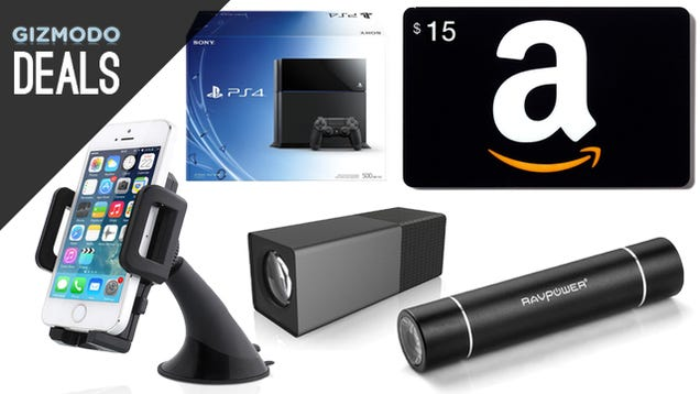 Deals: $15 Amazon Card with $50 Purchase, 5TB External, PS4 Discount
