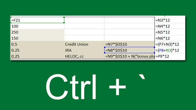 Quickly See All the Formulas in Excel with This Shortcut