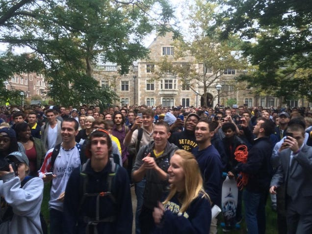 Michigan Students Rally Against AD Dave Brandon's Incompetence