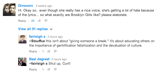 'Brooklyn Girls' Youtube Comments