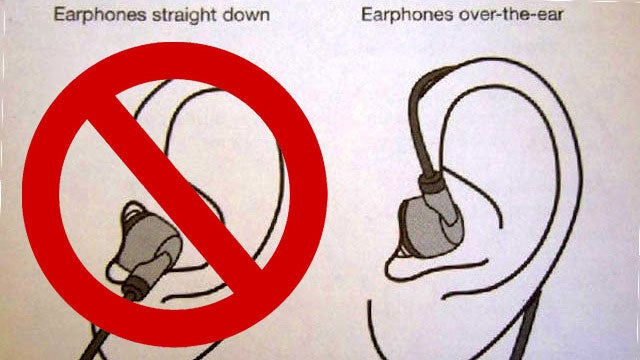 Wrap Earbuds Over Your Ear to Keep Them from Falling Out