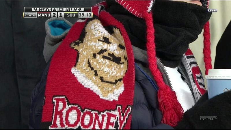 This Wayne Rooney Scarf Looks An Awful Lot Like Hitler