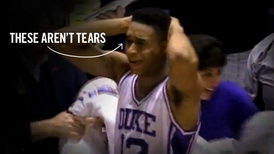 Duke fans crying