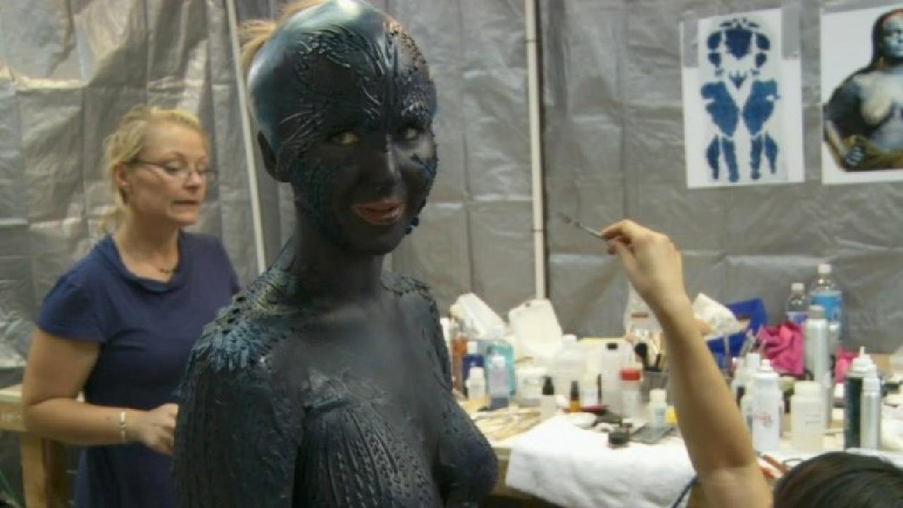 Jennifer Lawrence Mystique Makeup Process Watch Jennifer Lawrenc...