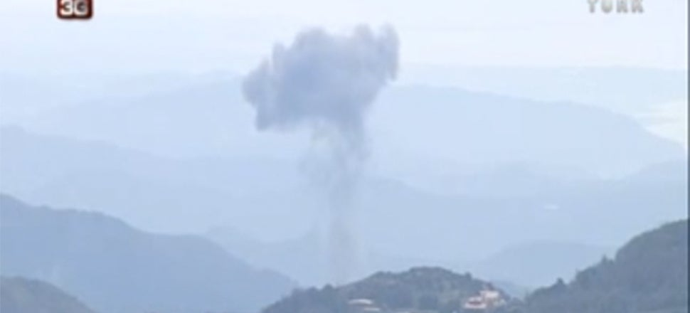 Turkey Shot Down A Syrian Fighter Jet And It Was Caught On Camera