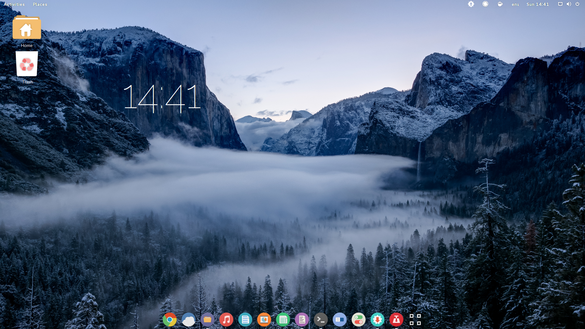 customisation featured-desktop linux themes wallpapers winter
