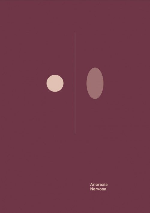 Mental disorders visualized in six minimalist posters