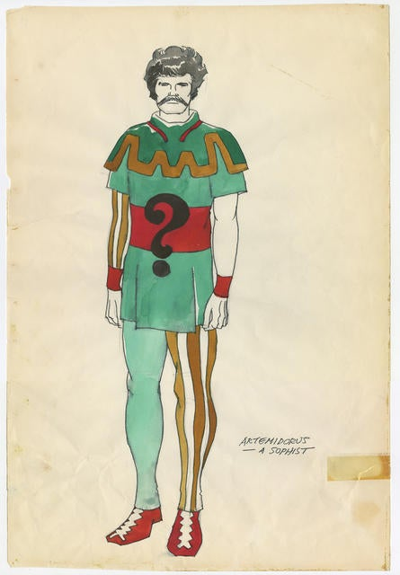 Jack Kirby — the co-creator of Thor and the X-Men — once designed costumes for a college Shakespeare play