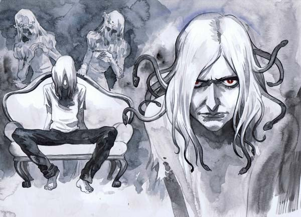 Concept art from the Sandman movie that never was