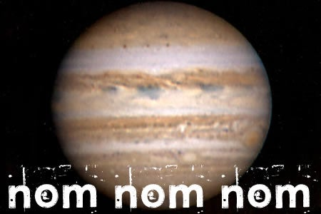 Jupiter Discovered To Be Moon-Eater