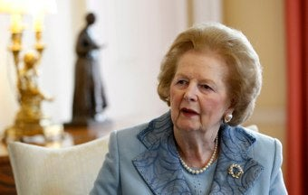 Margaret Thatcher Admitted To Hospital