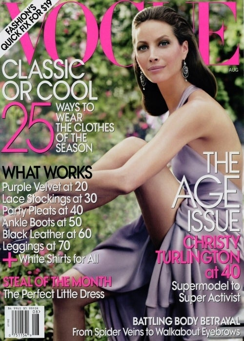 Christy Turlington Bags Another Vogue Cover