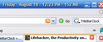 Download of the Day: TitleBarClock