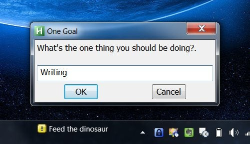 Create Your Own One Goal Taskbar Reminder