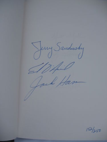 You Have Four Days Remaining To Bid On This Leather-Bound & Autographed Copy Of Jerry Sandusky's Book