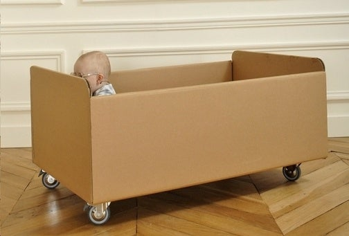 Hipster Crib Is a Cardboard Box