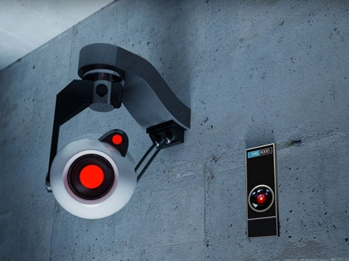 Image Cache: GlaDOS and HAL9000 Are Separated At Birth, Or Lovers?