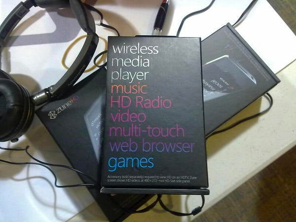 Zune HD Box Spotted in the Wild