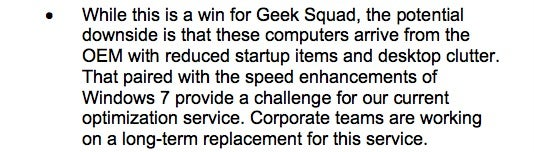 "Leaked Memo: Geek Squad Killing Its Scammy ""Optimization""  Services"