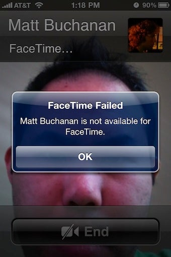 FaceTime Does Not Work Over Google Voice